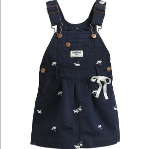 OshKosh Overall Dress with Embroidered Whales